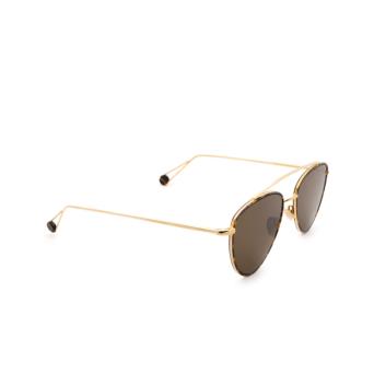 Ahlem® Irregular Sunglasses: Place Des Pyramides color Champagne.