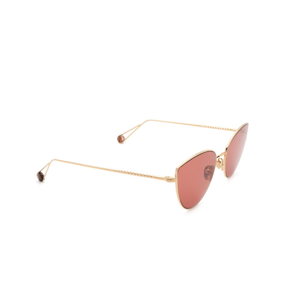 Ahlem® Cat-eye Sunglasses: Place Du Louvre color Champagne.