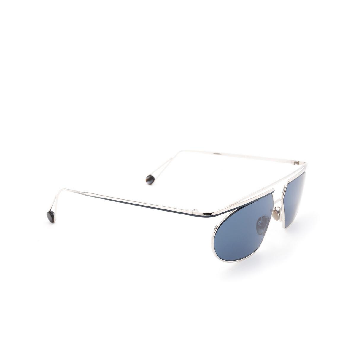 Ahlem® Irregular Sunglasses: Place Tokyo color White Gold/blue.