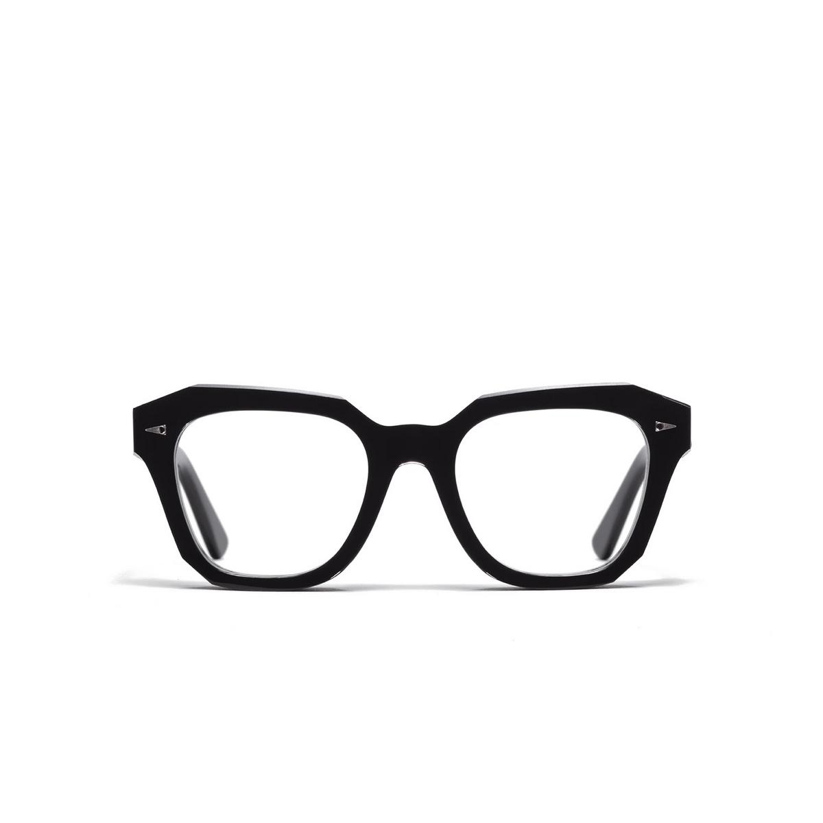 Ahlem® Square Eyeglasses: PONT DES ARTS OPTIC RAW 8MM color Black.