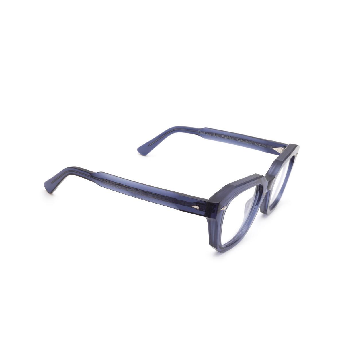 Ahlem® Square Eyeglasses: PONT DES ARTS OPTIC RAW 8MM color Blue Indigolight.