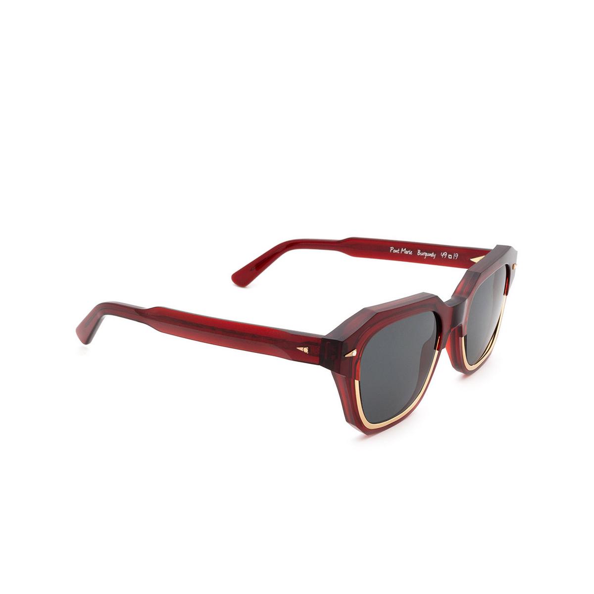 Ahlem® Square Sunglasses: Pont Marie color Burgundy.