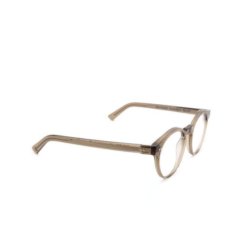 Ahlem® Round Eyeglasses: Rue Charlot Optic color Smokedlight.
