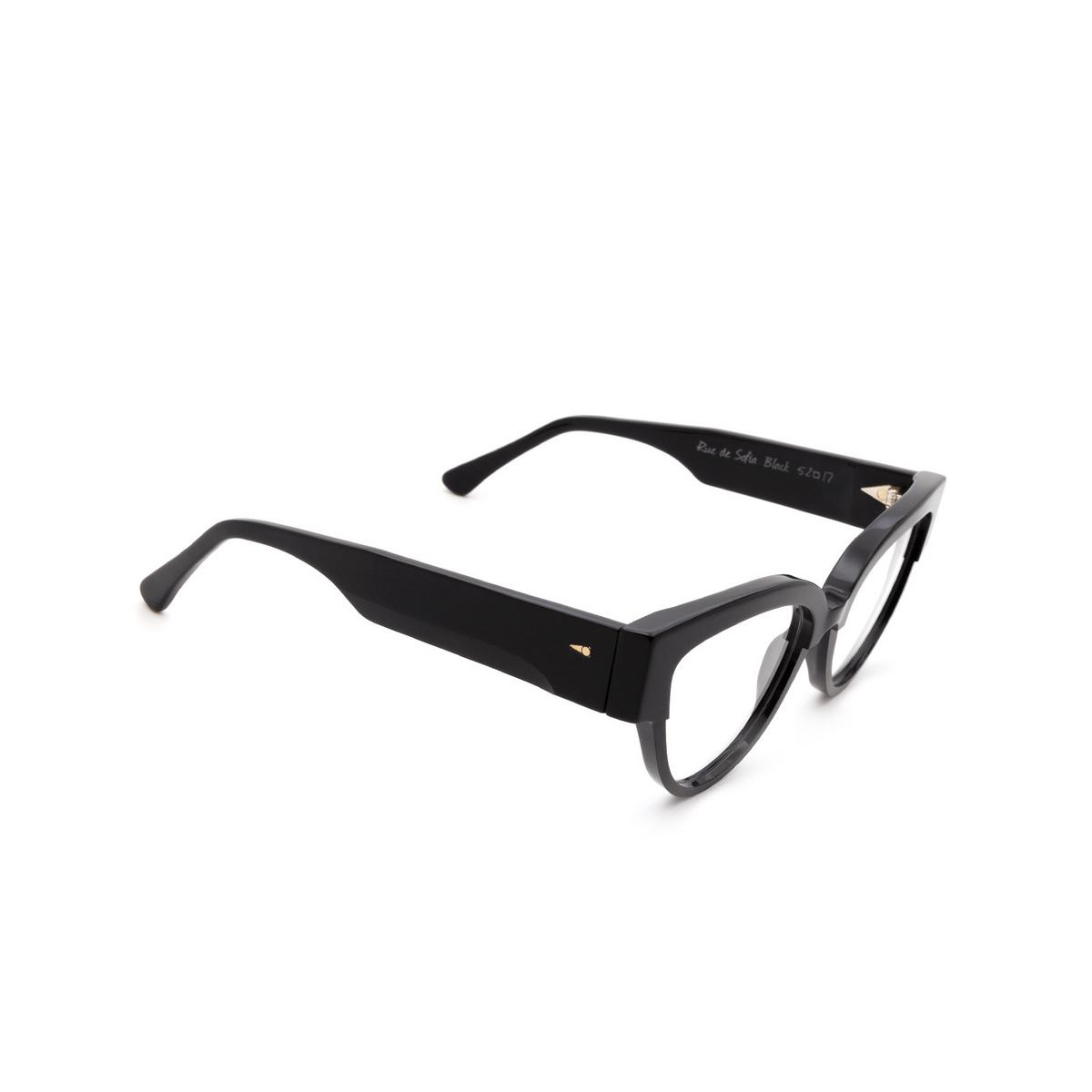 Ahlem® Butterfly Eyeglasses: Rue De Sofia Optic color Black.