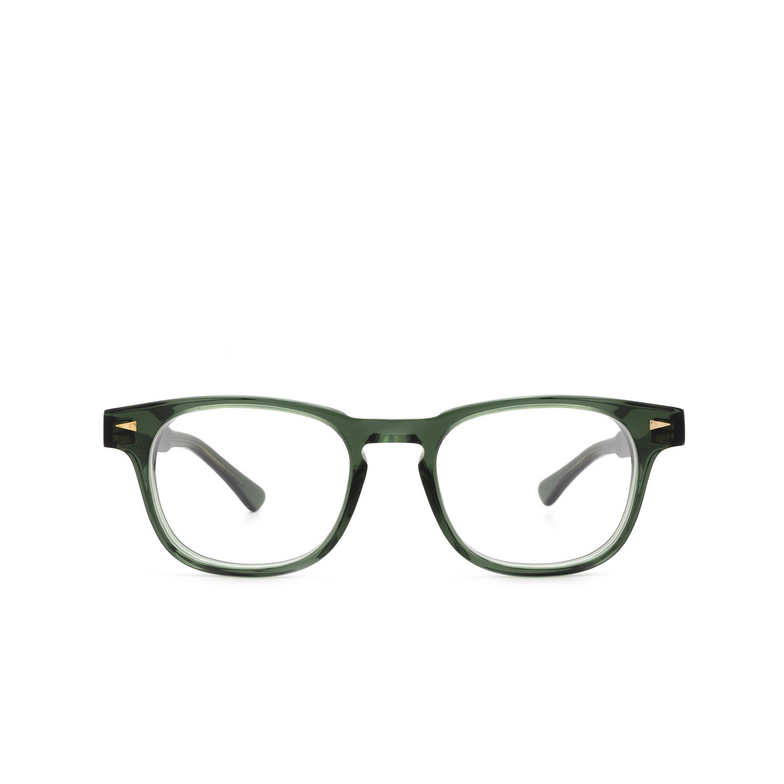 Ahlem® Square Eyeglasses: Rue De Turenne color Dark Green.