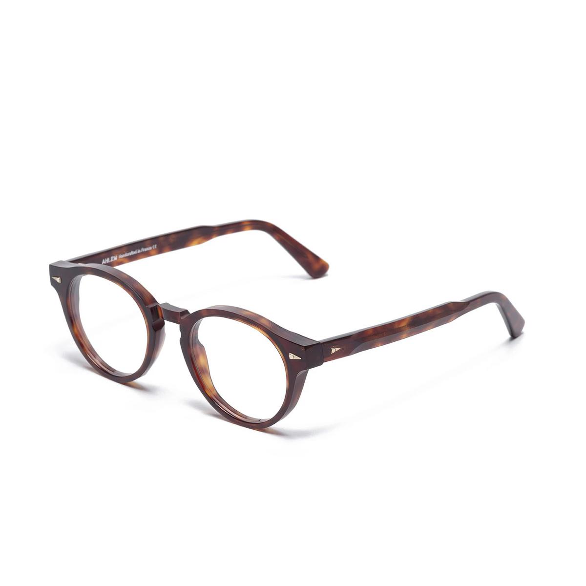 Ahlem® Round Eyeglasses: Rue Du Theatre color Light Turtle.