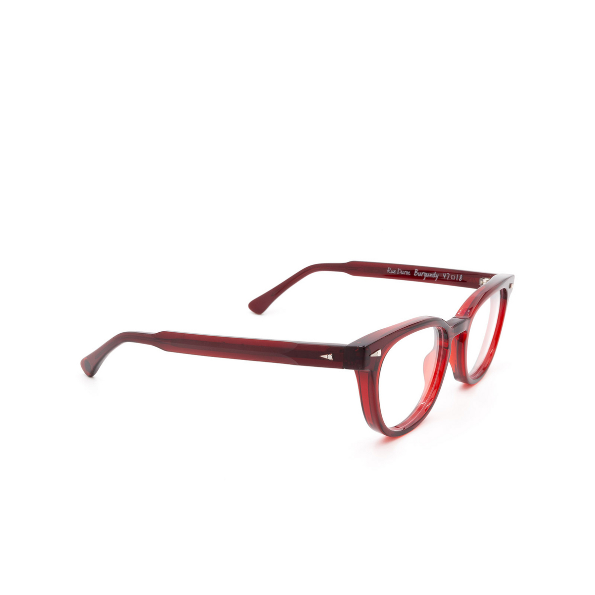 Ahlem® Square Eyeglasses: Rue Duroc color Burgundy.