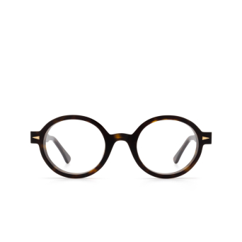 Ahlem® Round Eyeglasses: Rue Leon Optic color Light Turtle Dark Turtle.