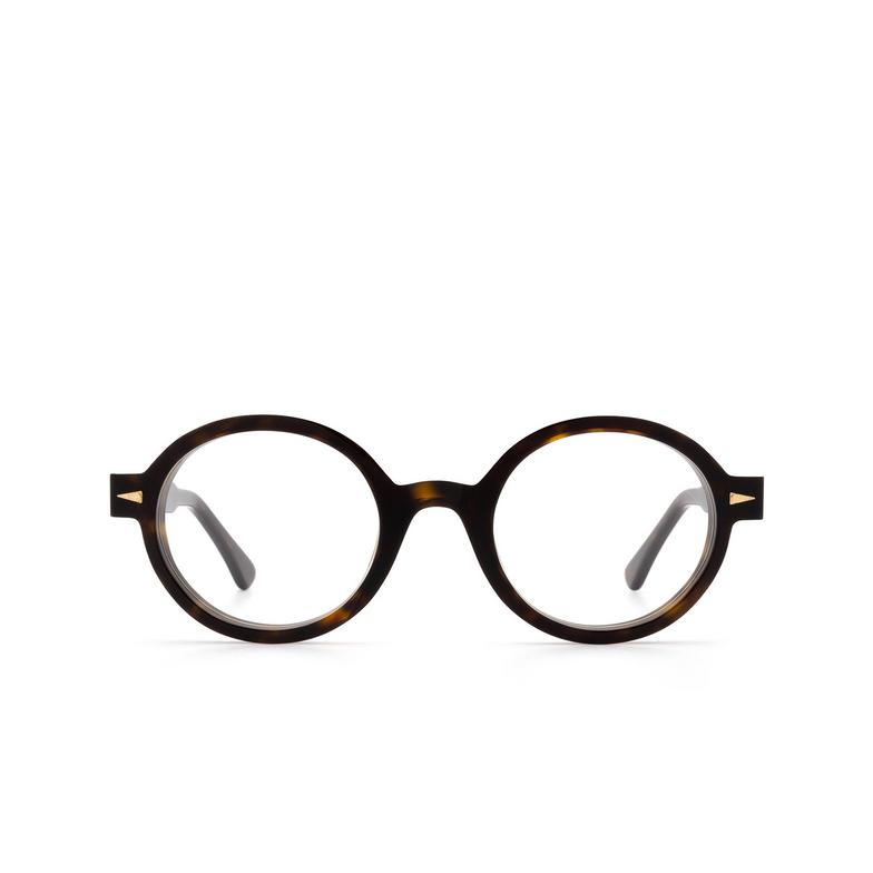 Ahlem® Round Eyeglasses: Rue Leon Optic color Light Turtle Dark Turtle.
