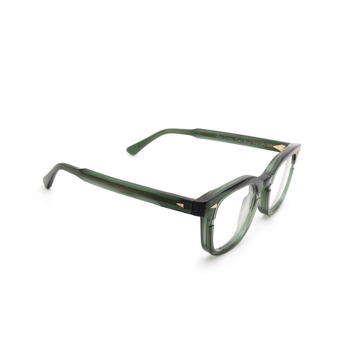 Ahlem® Square Eyeglasses: Rue Servan Optic color Dark Green.