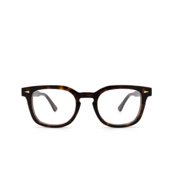 Ahlem® Square Eyeglasses: Rue Servan Optic color Dark Turtle.