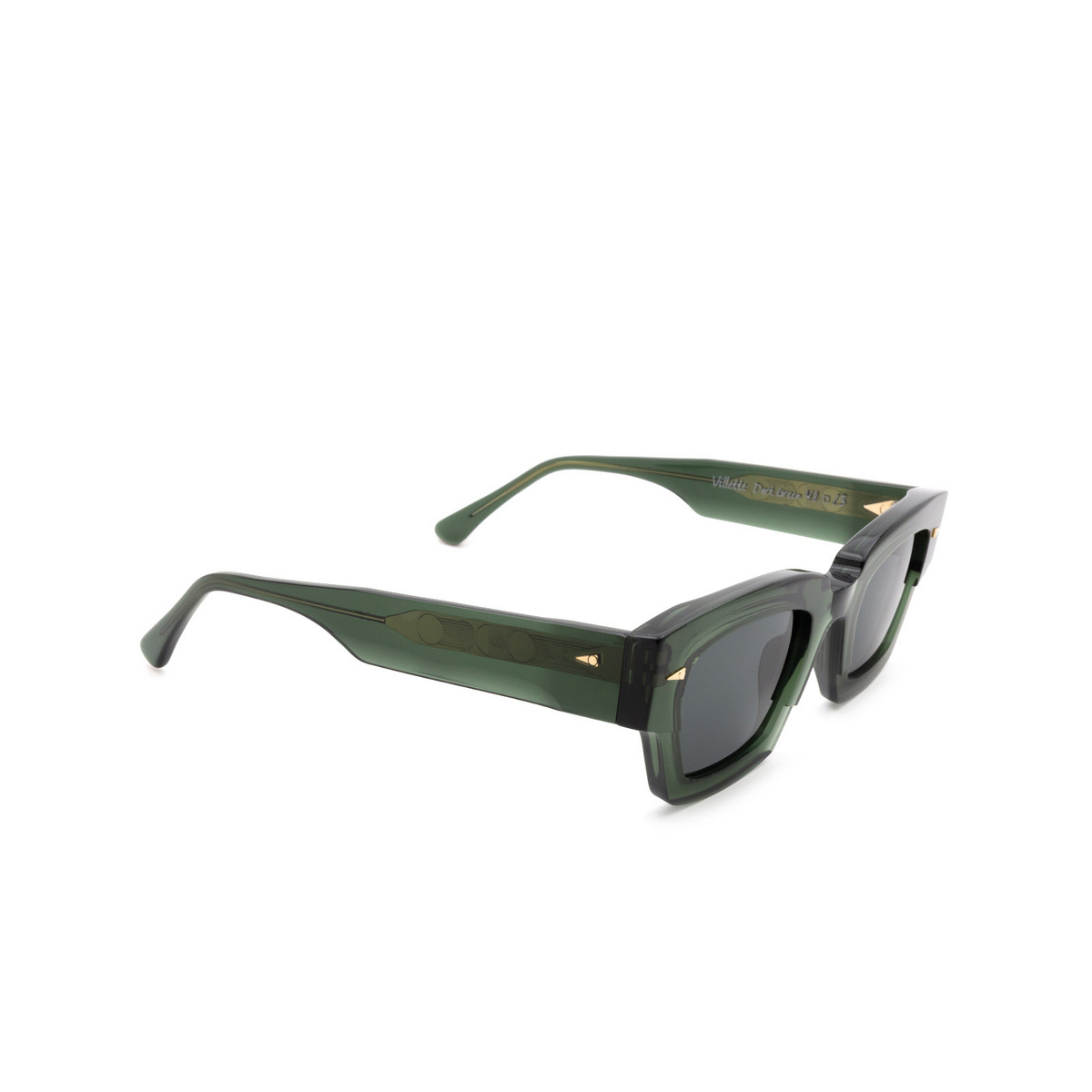 Ahlem® Square Sunglasses: Villette color Dark Green.