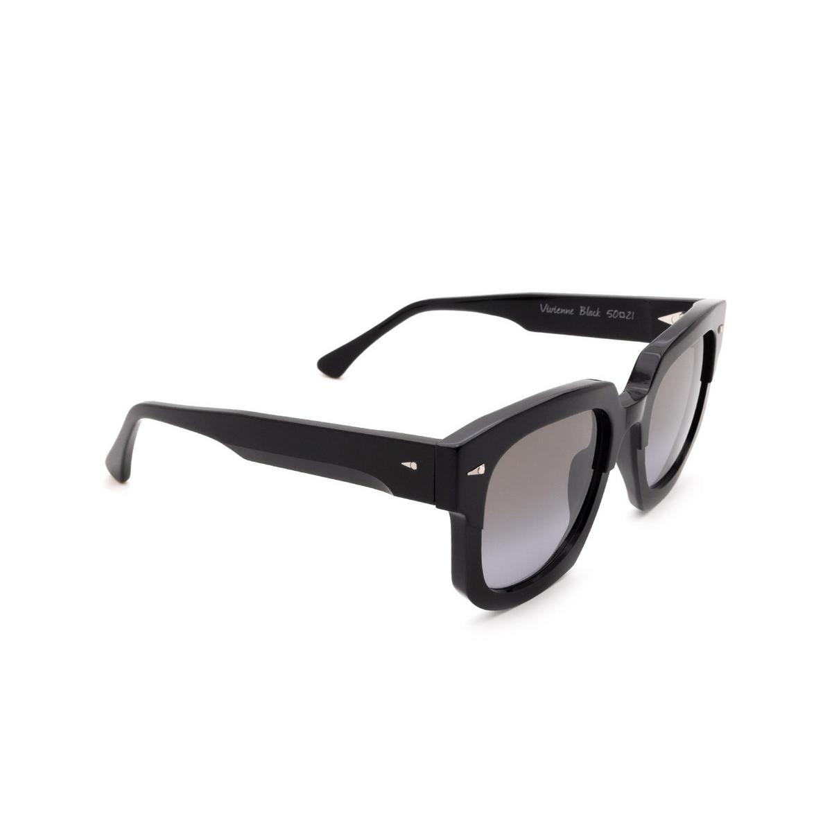 Ahlem® Square Sunglasses: Vivienne color Black.