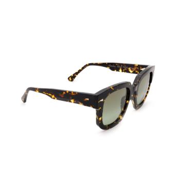 Ahlem® Square Sunglasses: Vivienne color Yellow Turtle.