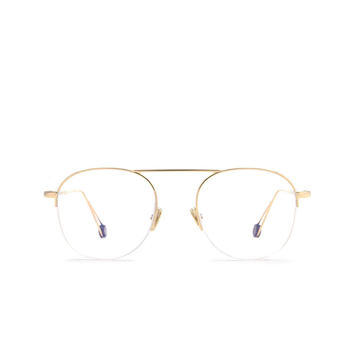 Ahlem® Round Eyeglasses: Voltaire color Champagne.