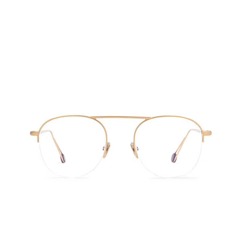 Ahlem® Round Eyeglasses: Voltaire color Rose Gold Brushed.