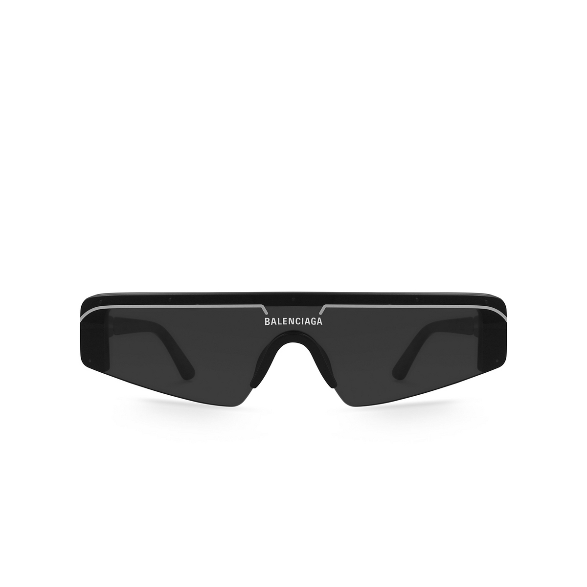 Balenciaga® Mask Sunglasses: BB0003S color Black 001 - front view.