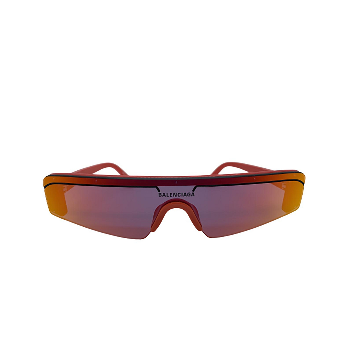 Balenciaga® Mask Sunglasses: BB0003S color Red 004 - front view.