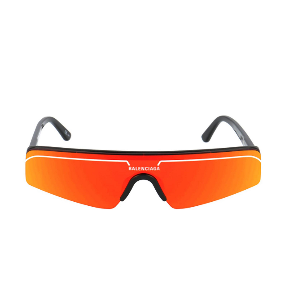 Balenciaga® Mask Sunglasses: BB0003S color Black 007 - front view.