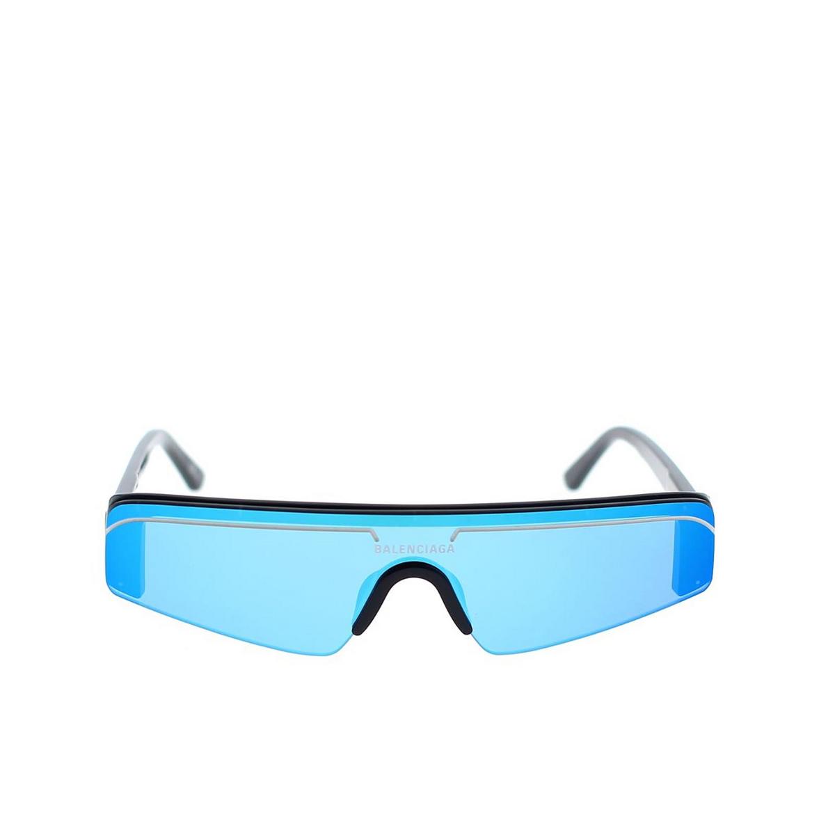 Balenciaga® Mask Sunglasses: BB0003S color Black 008 - front view.