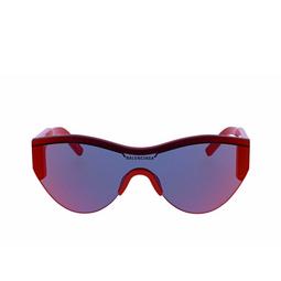 Balenciaga® Mask Sunglasses: BB0004S color Red 003.