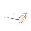 Balenciaga® Round Sunglasses: BB0009SK color Grey 003 - product thumbnail 2/3.