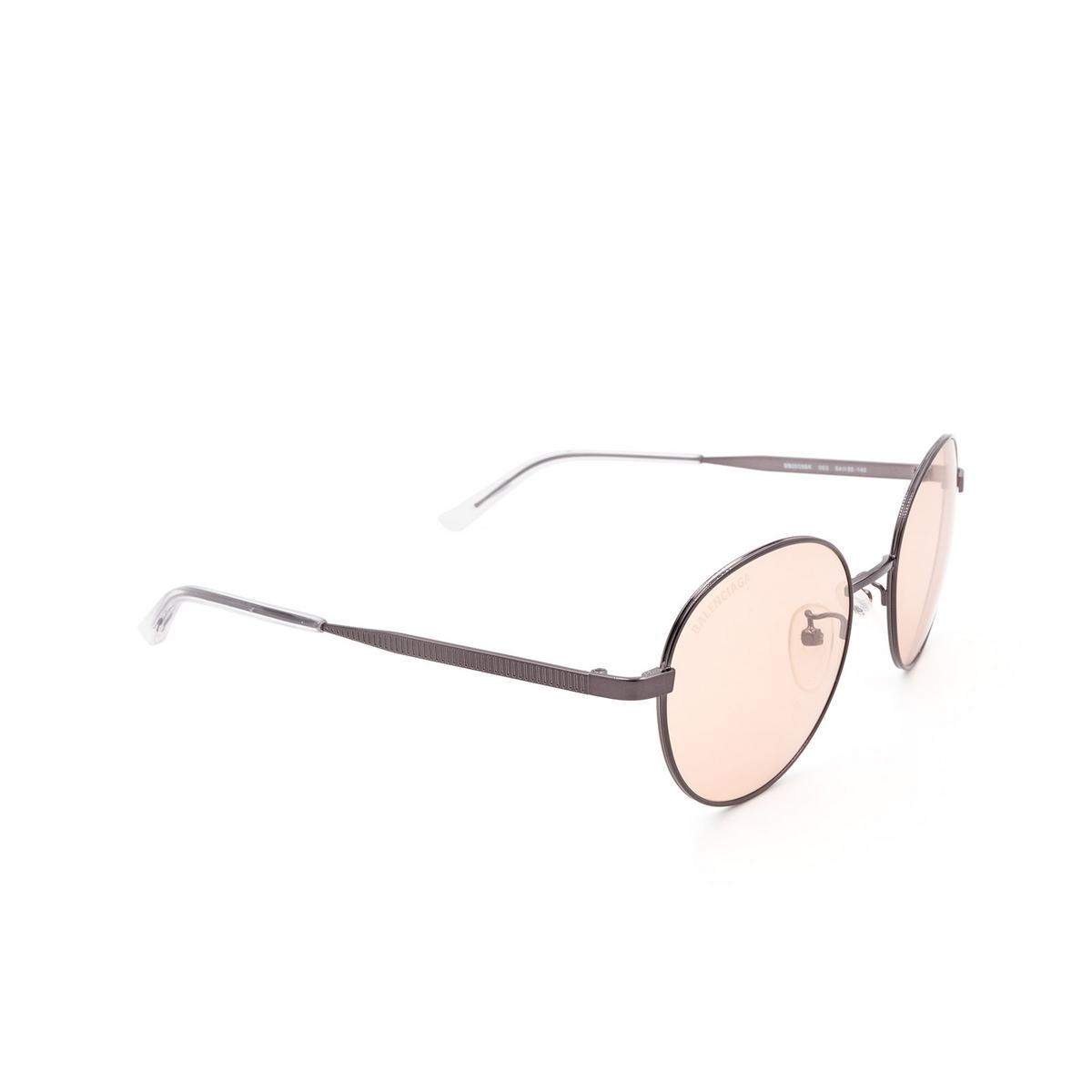 Balenciaga® Round Sunglasses: BB0009SK color Grey 003 - 2/3.