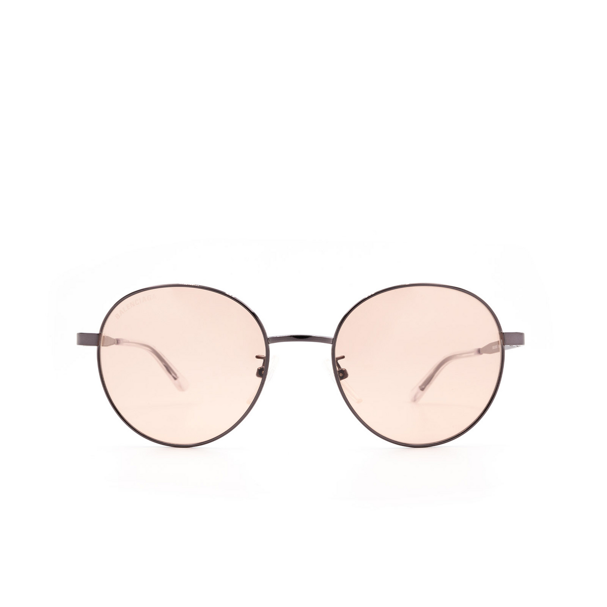 Balenciaga® Round Sunglasses: BB0009SK color Grey 003 - 1/3.