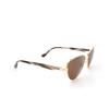 Balenciaga® Irregular Sunglasses: BB0011S color Gold 002 - product thumbnail 2/3.