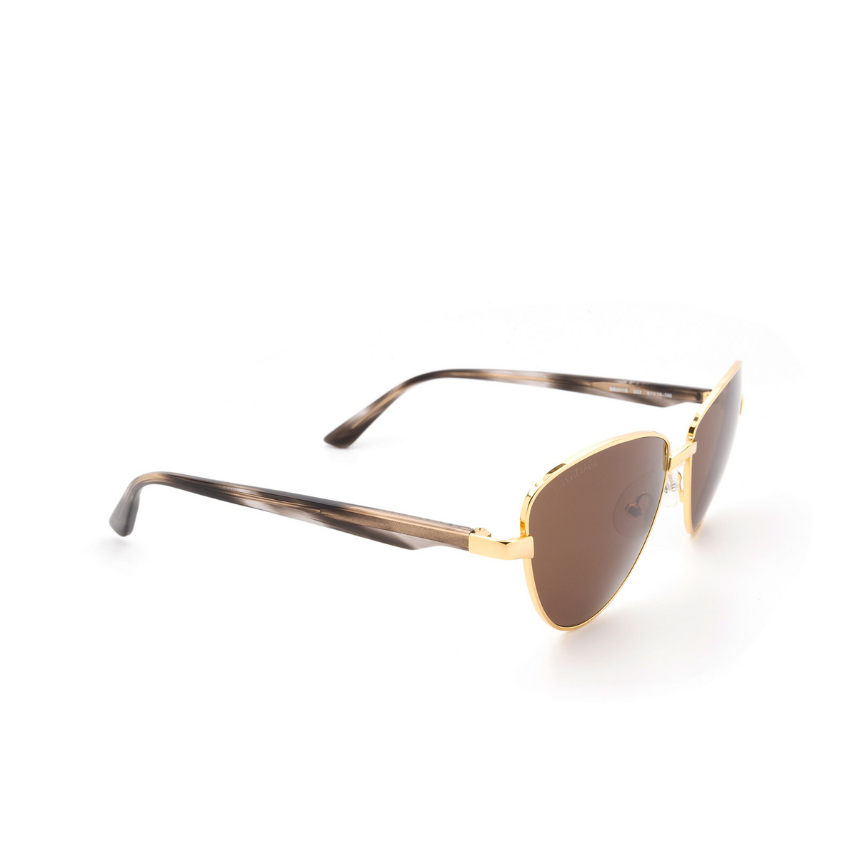 Balenciaga® Irregular Sunglasses: BB0011S color Gold 002 - 2/3.
