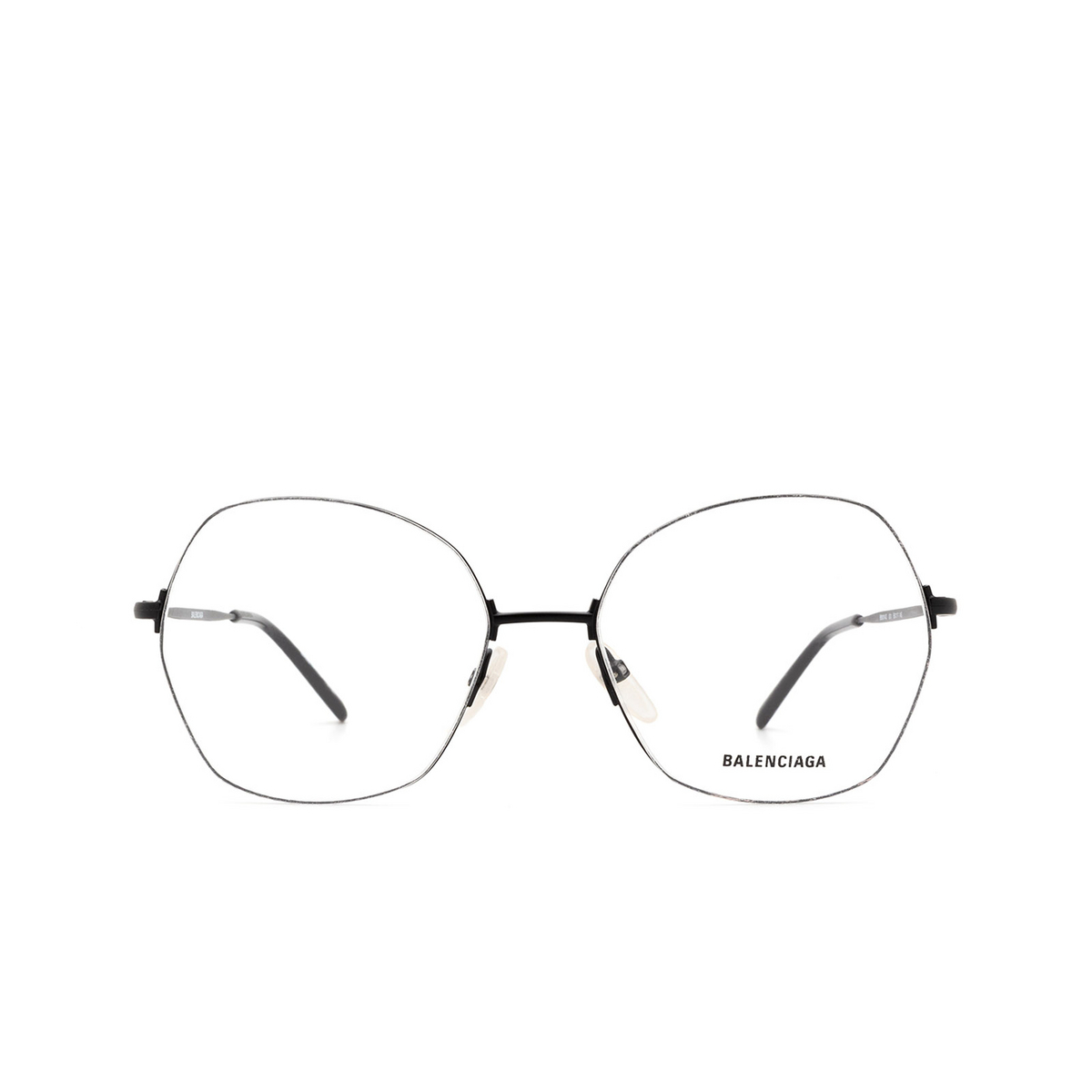 Balenciaga® Irregular Eyeglasses: BB0014O color Black 001 - front view.