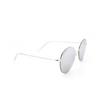 Balenciaga® Round Sunglasses: BB0016SK color Silver 002 - product thumbnail 2/3.