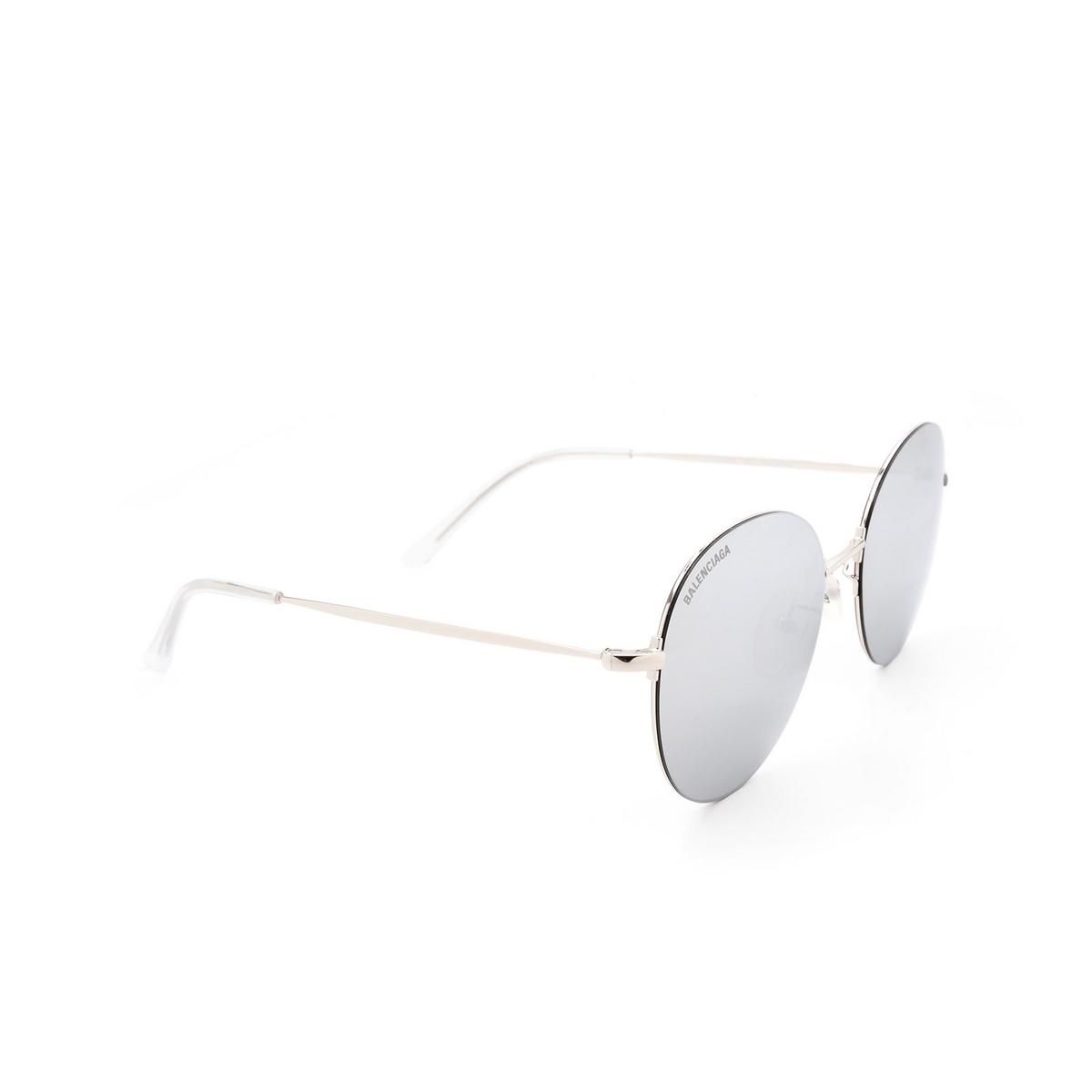 Balenciaga® Round Sunglasses: BB0016SK color Silver 002 - 2/3.