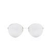 Balenciaga® Round Sunglasses: BB0016SK color Silver 002 - product thumbnail 1/3.