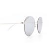 Balenciaga® Round Sunglasses: BB0016SK color Silver 002 - product thumbnail 3/3.
