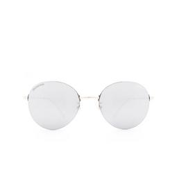 Balenciaga® Round Sunglasses: BB0016SK color Silver 002.