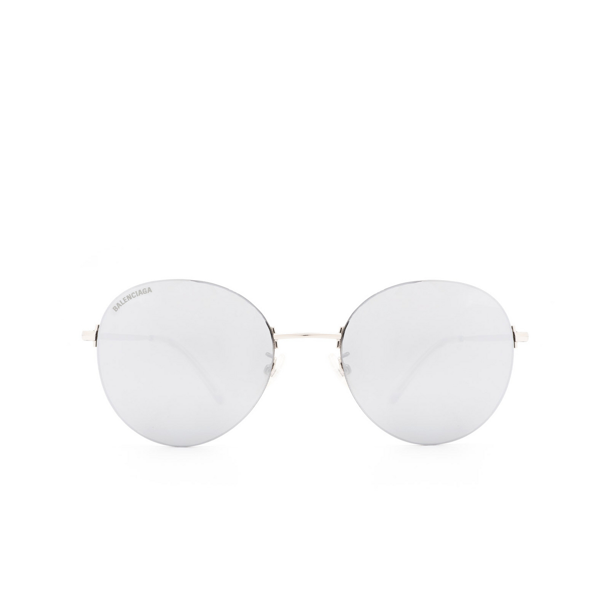 Balenciaga® Round Sunglasses: BB0016SK color Silver 002 - 1/3.
