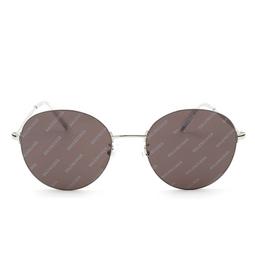 Balenciaga® Round Sunglasses: BB0016SK color Silver 004.