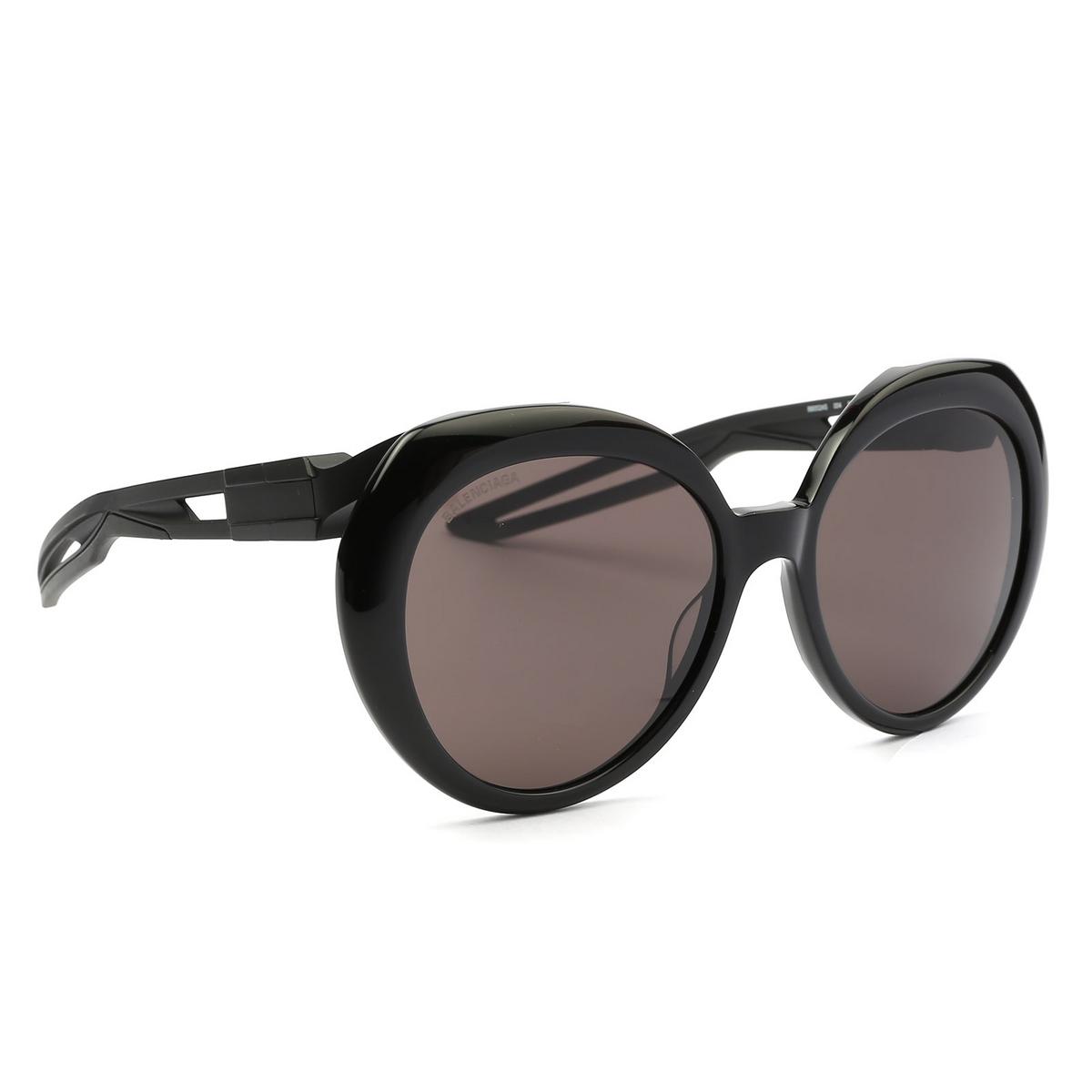 Balenciaga® Round Sunglasses: BB0024S color Black 004 - 2/4.