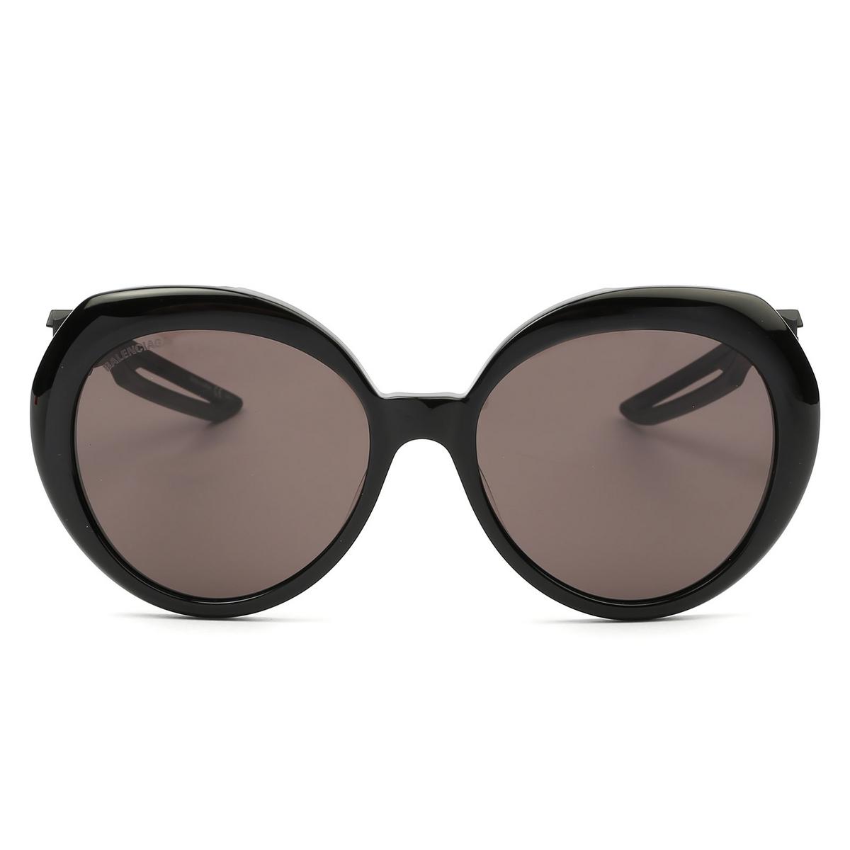 Balenciaga® Round Sunglasses: BB0024S color Black 004 - 1/4.