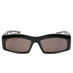 Balenciaga® Rectangle Sunglasses: BB0026S color Black 001.