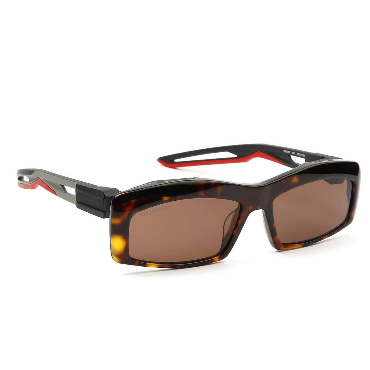 Balenciaga® Rectangle Sunglasses: BB0026S color Havana 003 - 2/4.