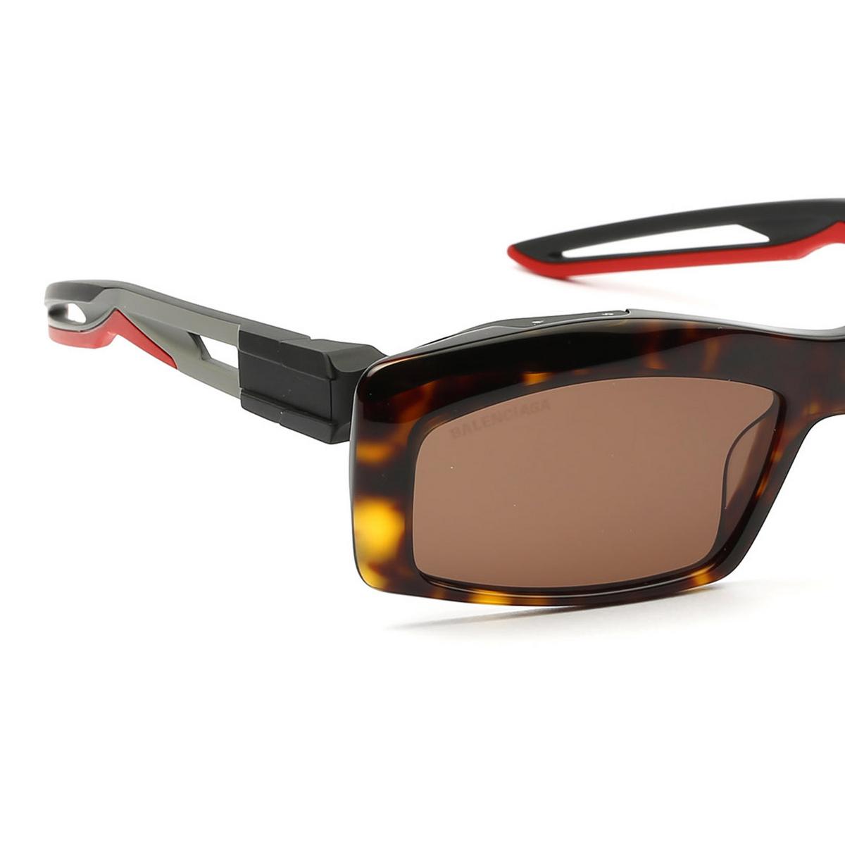 Balenciaga® Rectangle Sunglasses: BB0026S color Havana 003 - 3/4.