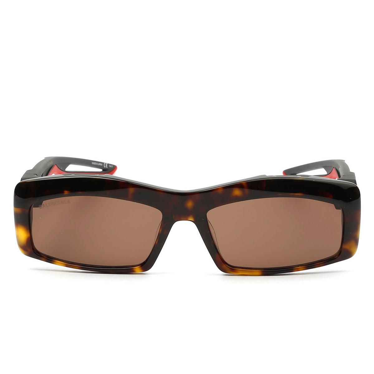 Balenciaga® Rectangle Sunglasses: BB0026S color Havana 003 - 1/4.