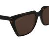 Balenciaga® Butterfly Sunglasses: BB0046S color Havana 002 - product thumbnail 3/3.