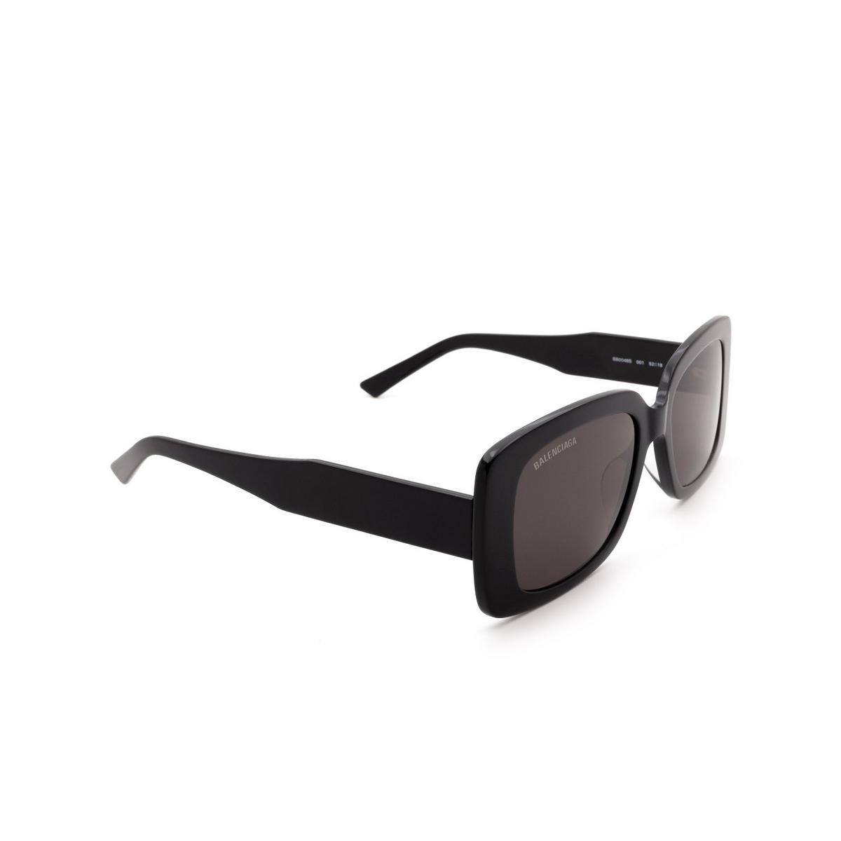 Balenciaga® Rectangle Sunglasses: BB0048S color Black 001 - 2/3.