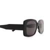 Balenciaga® Rectangle Sunglasses: BB0048S color Black 001 - product thumbnail 3/3.