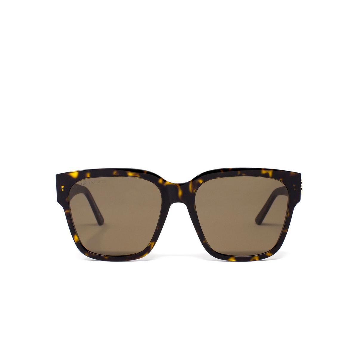 Balenciaga® Square Sunglasses: BB0056S color Havana 002 - front view.