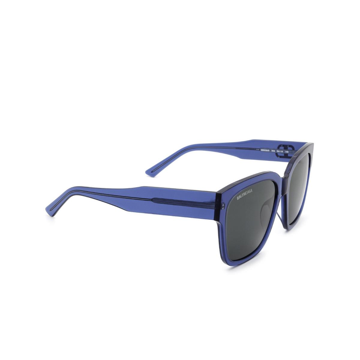 Balenciaga® Square Sunglasses: BB0056S color Blue 006 - 2/3.