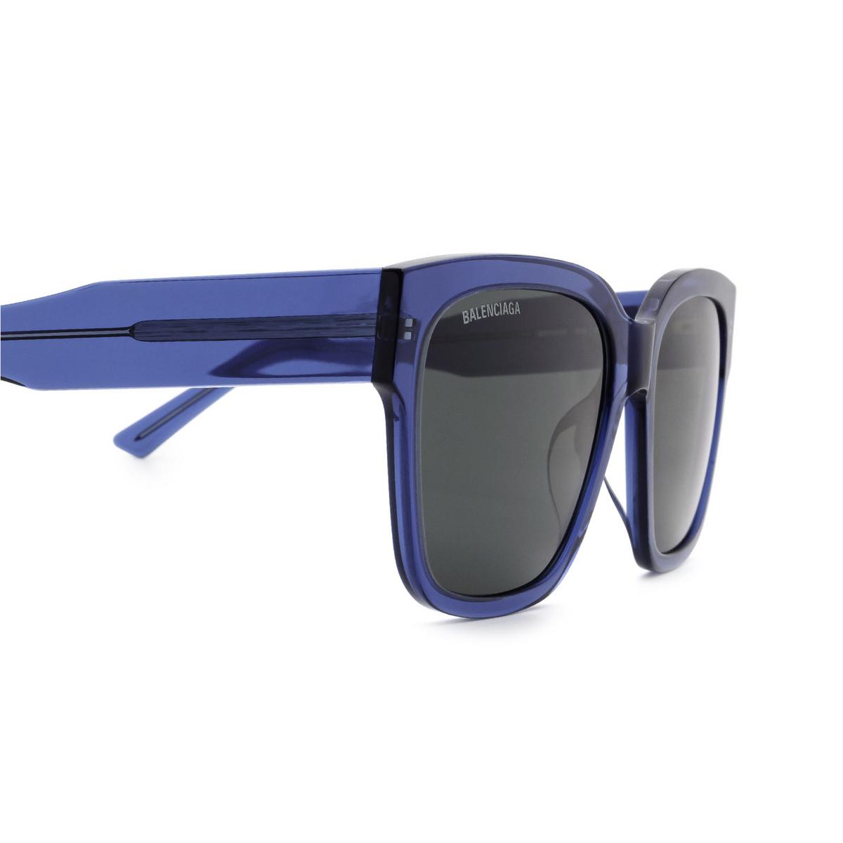 Balenciaga® Square Sunglasses: BB0056S color Blue 006 - 3/3.